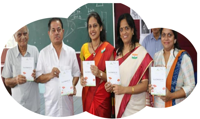 Dr. Vasudevan Pillai releases book on 'Value Embedded Life' authored by Director Dr. Sunita Jain on 15th August, 2018.